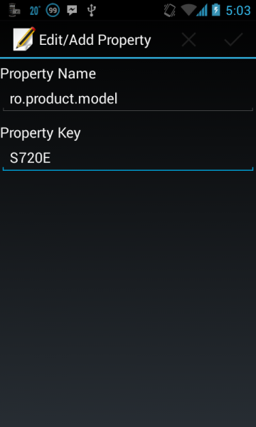 build.prop model value